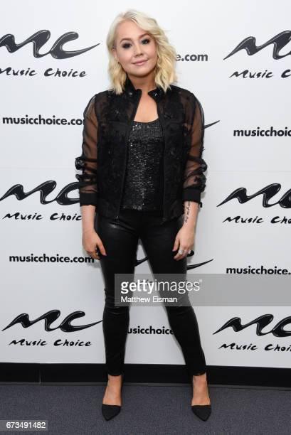 Singer RaeLynn visits Music Choice on April 26 2017 in New York City