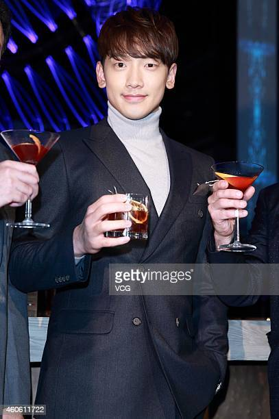 Singer Rain appears at a bar on December 17, 2014 in Shanghai, China.