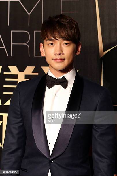 Singer Rain arrives at the red carpet of 2014 Chic! Style Awards at Mercedes-Benz Arena on December 9, 2014 in Shanghai, China.