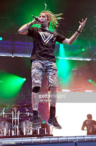 Singer Randy Blythe of Lamb of God performs at Charlotte Motor Speedway on May 7 2016 in Concord North Carolina