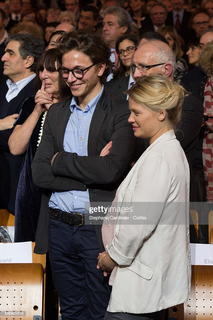 Singer Raphael and actress Melanie Thierry attend the Tribute to Jean Paul Belmondo and Opening Ceremony of the Fifth Lumiere Film Festival, in Lyon.