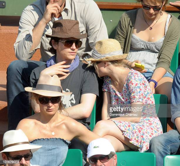 Singer Raphael and actress Melanie Thierry sighting at the French open on June 3, 2010 in Paris, France.