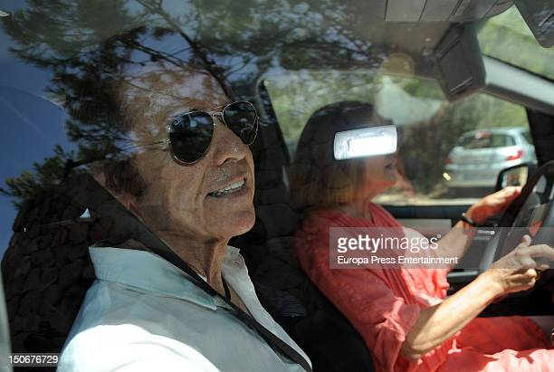Singer Raphael and his wife Natalia Figueroa are seen visiting the Duchess of Alba and her husband Alfonso Diez in their home to have lunch with them...