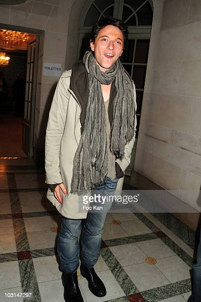 Singer Raphael attends the Eva Herzigova Collection For 123 Launch Party at Hotel Montmorency on April 8 2010 in Paris France