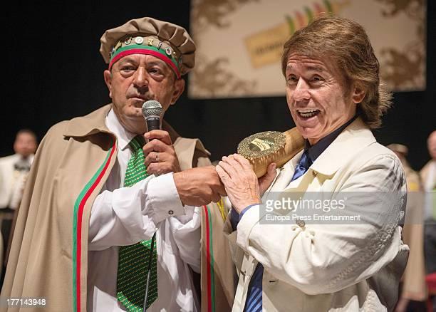 Singer Raphael is appointed as new member of 'Puff Pastry Brotherhood' on August 18 2013 in Torrelavega Spain
