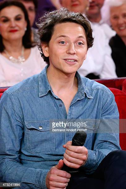 Singer Raphael presents his Album 'Somnambules' during the 'Vivement Dimanche' French TV Show at Pavillon Gabriel on May 13 2015 in Paris France