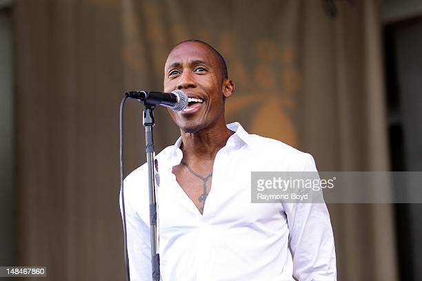 Singer Raphael Saadiq performs on the Petrillo Music Shell during the 32nd Annual 'Taste Of Chicago' in Chicago Illinois on JULY 14 2012