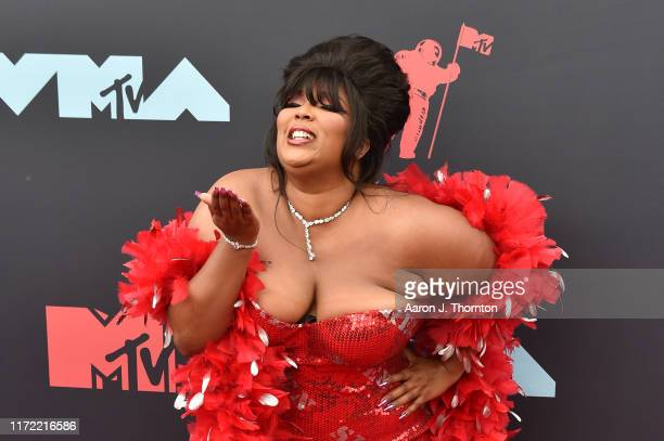 Singer / Rapper Lizzo attends the 2019 MTV Video Music Awards red carpet at Prudential Center on August 26 2019 in Newark New Jersey