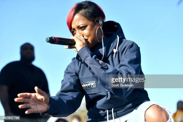 Singer Rapsody performs onstage at the Smokers Club Festival at The Queen Mary on April 29 2018 in Long Beach California