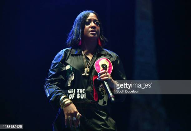 Singer Rapsody performs onstage during the Adult Swim Festival at Banc of California Stadium on November 16 2019 in Los Angeles California