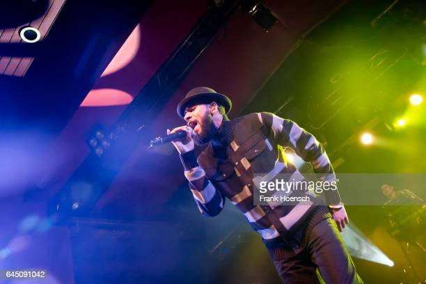 Singer Ras Puma of the American band Thievery Corporation performs live during a concert at the Astra on February 24 2017 in Berlin Germany