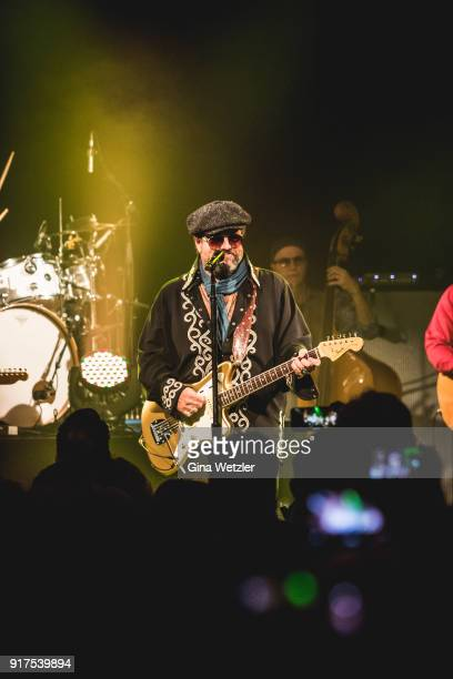 Singer Raul Malo of The Mavericks performs live on stage during a concert at the Heimathafen Neukoelln on February 12 2018 in Berlin Germany