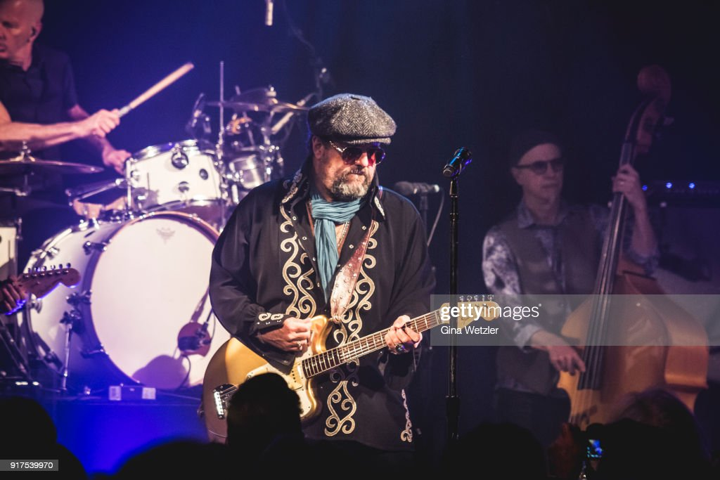 Singer Raul Malo of The Mavericks performs live on stage during a concert at the Heimathafen Neukoelln on February 12, 2018 in Berlin, Germany.