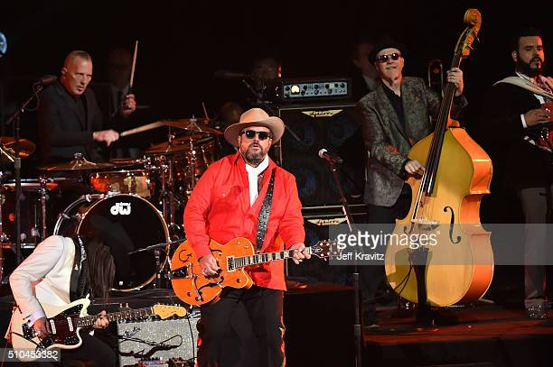 Singer Raul Malo of The Mavericks performs onstage during The 58th GRAMMY Premiere Ceremony at Los Angeles Convention Center on February 15 2016 in...