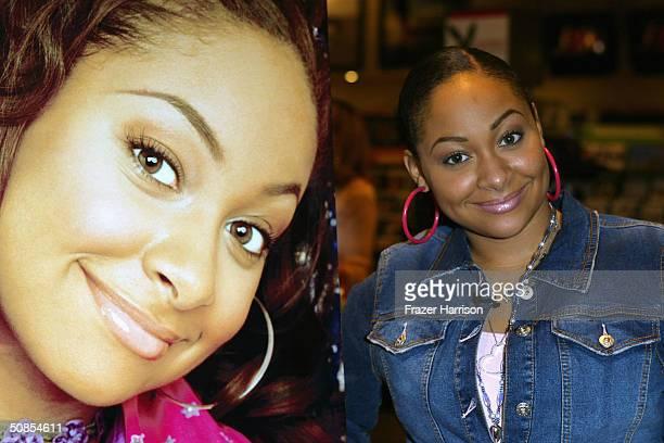 Singer Raven Symone star of hit Disney Channel original series That's So Raven poses at an in store apperance at Virgin Megastore in Burbank where...