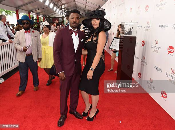 Singer Ray J and Princess Love arrive at the 142nd Kentucky Derby at Churchill Downs on May 7 2016 in Louisville Kentucky