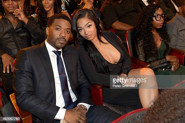 Singer Ray J and TV personality Princess Love attend the BET Hip Hop Awards Show 2015 at the Atlanta Civic Center on October 9 2015 in Atlanta Georgia