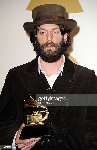 Singer Ray LaMontagne poses in the press room at The 53rd Annual GRAMMY Awards held at Staples Center on February 13, 2011 in Los Angeles, California.