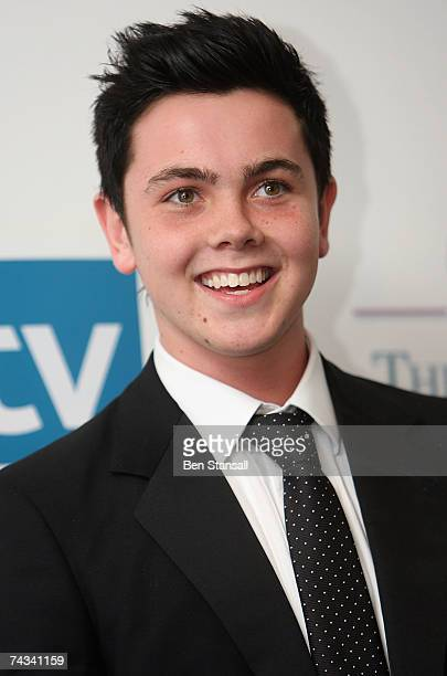 Singer Ray Quinn poses back stage at the British Soap Awards 2007 at the BBC Television Centre on May 26 2007 in London England