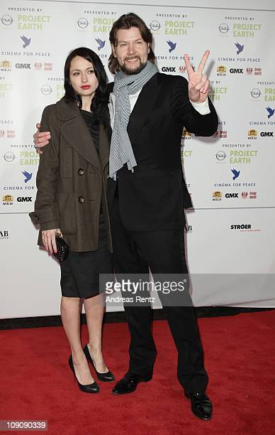 Singer Rea Garvey and wife Josephine Garvey attend the Cinema for Peace Gala at the Konzerthaus Am Gendarmenmarkt during day five of the 61st Berlin...