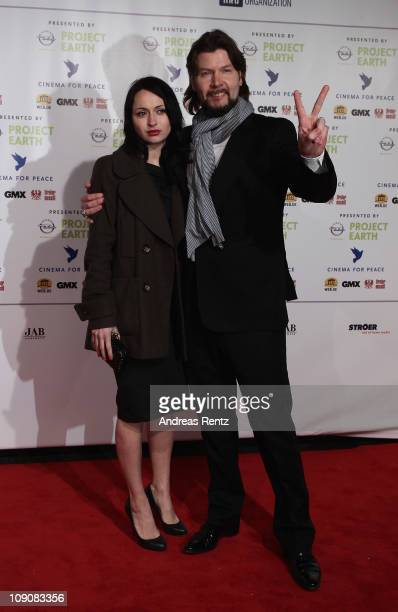 Singer Rea Garvey with his wife Josephine attend the Cinema for Peace Gala at the Konzerthaus Am Gendarmenmarkt during day five of the 61st Berlin...
