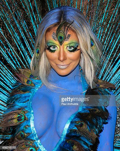 Singer / Reality TV Personality Aubrey O'Day attends Adam Lambert's 2nd annual Halloween bash at Bootsy Bellows on October 31 2014 in West Hollywood...