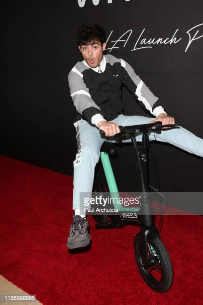 Singer / Reality TV Personality Emery Kelly attends the 'Wheels' California's bikeshare app at The Sunset Tower on March 14 2019 in West Hollywood...