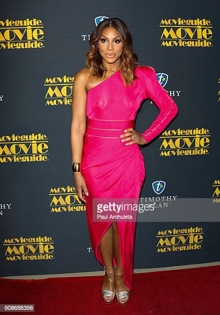 Singer / Reality TV Personality Tamar Braxton attends the 24th Annual Movieguide Awards Gala at Universal Hilton Hotel on February 5 2016 in...
