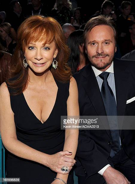 Singer Reba McEntire and Narvel Blackstock attend the 48th Annual Academy of Country Music Awards at the MGM Grand Garden Arena on April 7 2013 in...