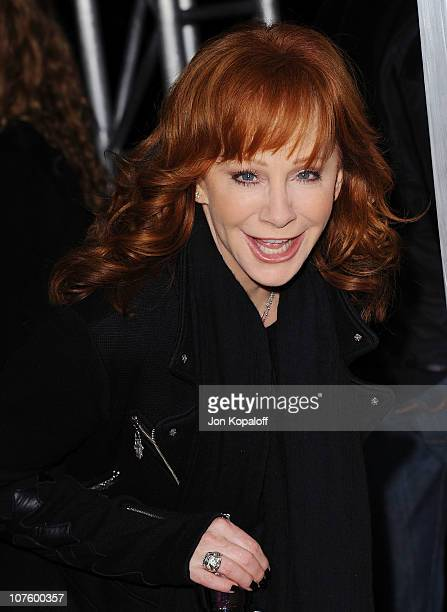 Singer Reba McEntire arrives at the Los Angeles Premiere Country Strong at the Academy of Motion Picture Arts and Sciences on December 14 2010 in...