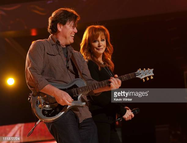 Singer Reba McEntire performs during rehearsals for the 46th Annual Academy Of Country Music Awards on March 31 2011 in Las Vegas Nevada