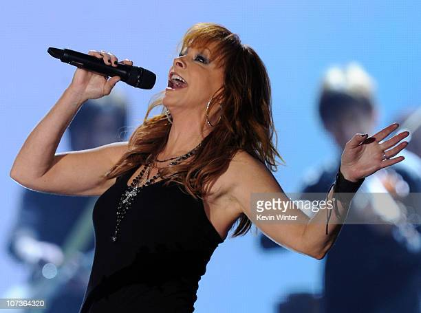 Singer Reba McEntire performs onstage during the American Country Awards 2010 held at the MGM Grand Garden Arena on December 6 2010 in Las Vegas...