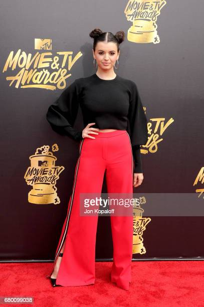 Singer Rebecca Black attends the 2017 MTV Movie And TV Awards at The Shrine Auditorium on May 7 2017 in Los Angeles California