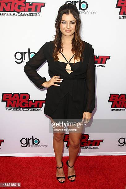 Singer Rebecca Black attends the GRB Entertainment's 'Bad Night' premiere held at the ArcLight Cinemas on July 21 2015 in Hollywood California