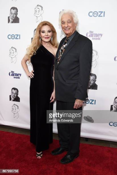 Singer Rebecca Holden and record producer Joel Diamond arrive at the 3rd Annual Carney Awards at The Broad Stage on October 29 2017 in Santa Monica...