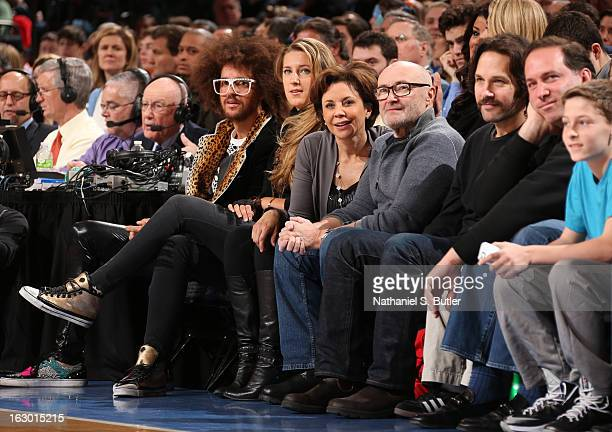 LMAFO singer Redfoo 2012 Olympic Gold Metal tennis star CBS2 News Anchor Dana Tyler with boyfriend Grammy Award winning Artist Phil Collins and Actor...