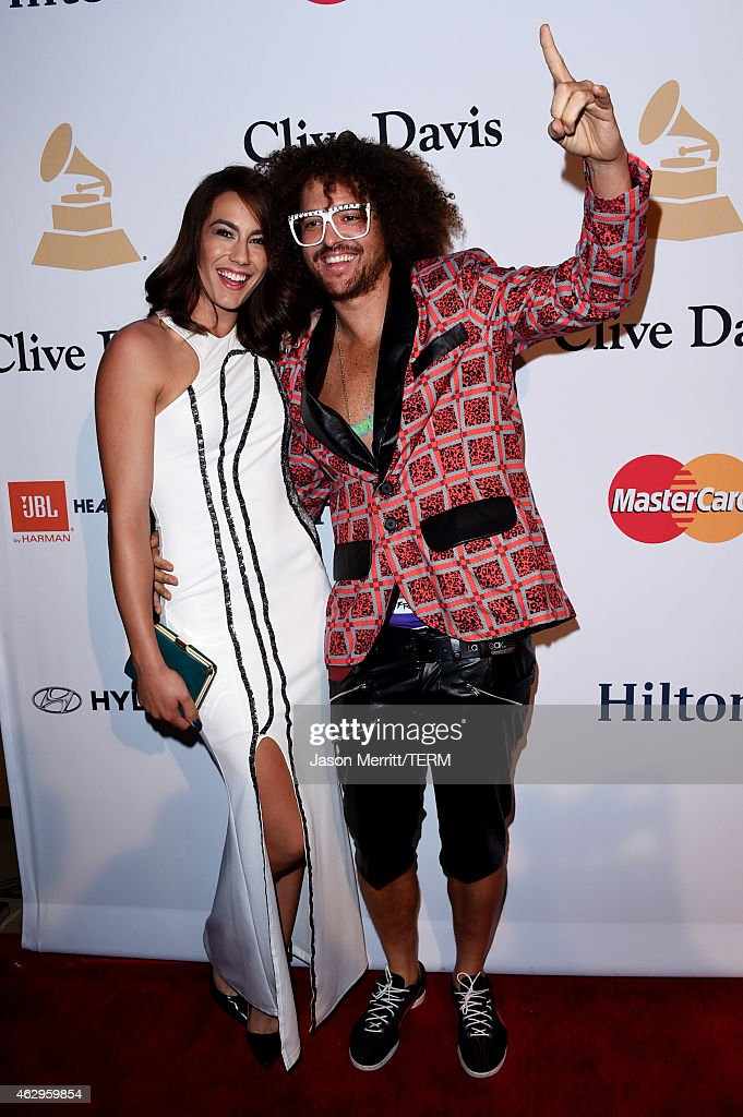 Singer Redfoo (R) and guest attend the Pre-GRAMMY Gala and Salute To Industry Icons honoring Martin Bandier at The Beverly Hilton Hotel on February 7, 2015 in Beverly Hills, California.