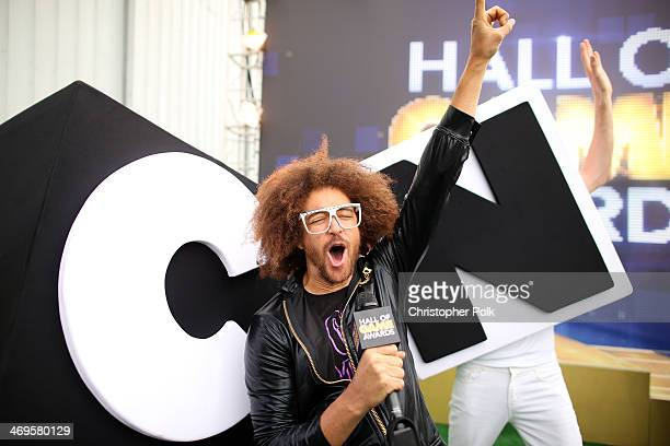 Singer Redfoo attends Cartoon Network's fourth annual Hall of Game Awards at Barker Hangar on February 15 2014 in Santa Monica California