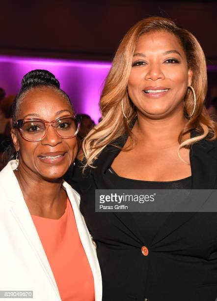 Singer Regina Belle and actress Queen Latifah at 2017 BronzeLens Film Festival Women SuperStars Luncheon at Westin Peachtree Plaza on August 25 2017...
