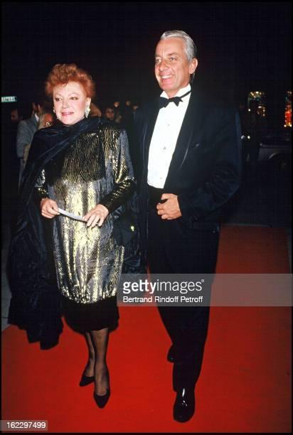 Singer Regine and Just Jaeckin at Barbara Hendricks gala party 1987