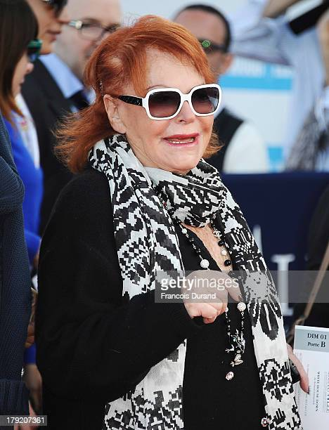 Singer Regine arrives at the premiere of the movie 'White House Down' during the 39th Deauville American film festival on September 1 2013 in...