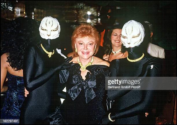 Singer Regine at a Regine's Nightclub party Paris 1987