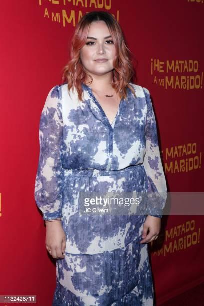 Singer Reina Mora attends 'HE MATADO A MI MARIDO' Los Angeles Premiere at Harmony Gold Theatre on February 26 2019 in Los Angeles California