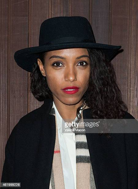 Singer Remi Nicole arrives at Alexa Chung For AG Los Angeles Launch Party on January 22 2015 in Beverly Hills California