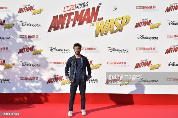 Singer Renan Luce attends the European Premiere of Marvel Studios 'AntMan And The Wasp' at Disneyland Paris on July 14 2018 in Paris France