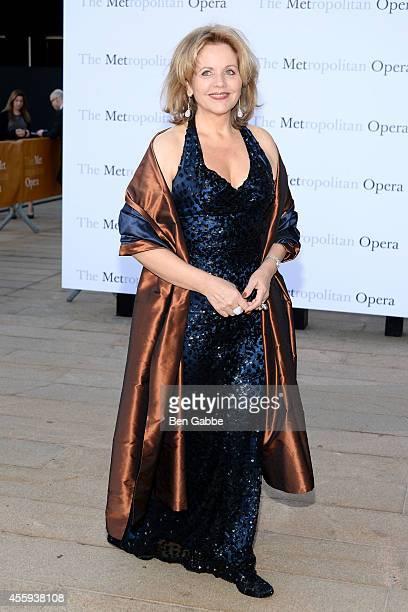 Singer Renee Fleming attends the Metropolitan Opera Season Opening at The Metropolitan Opera House on September 22 2014 in New York City