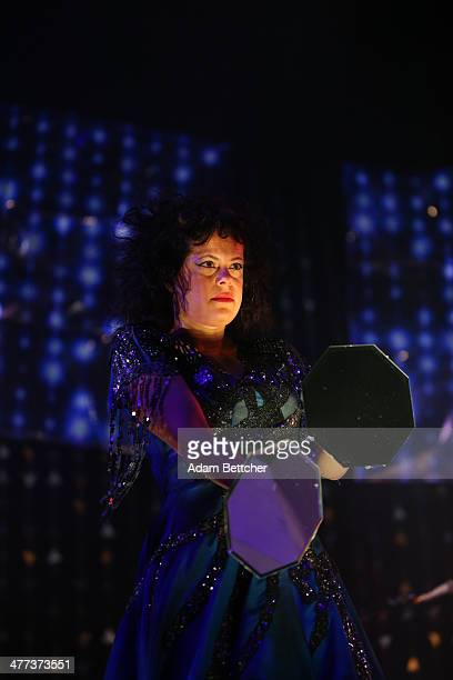 Singer Régine Chassagne of Arcade Fire performs at Target Center on March 8 2014 in Minneapolis Minnesota