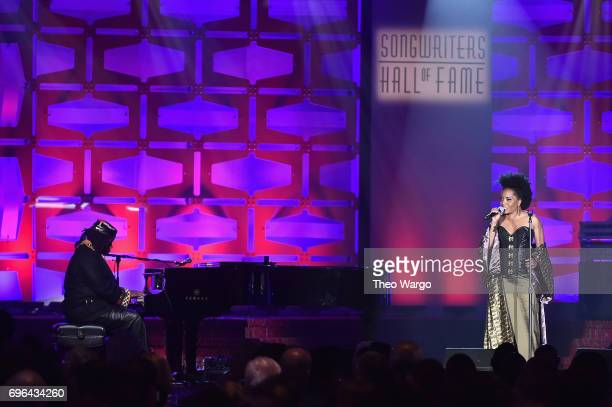 Singer Rhonda Ross Kendrick performs onstage at the Songwriters Hall Of Fame 48th Annual Induction and Awards at New York Marriott Marquis Hotel on...