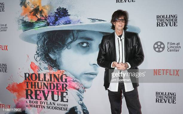 "Singer Ric Ocasek attends the ""Rolling Thunder Revue: A Bob Dylan Story By Martin Scorsese"" New York screening at Alice Tully Hall, Lincoln Center on..."