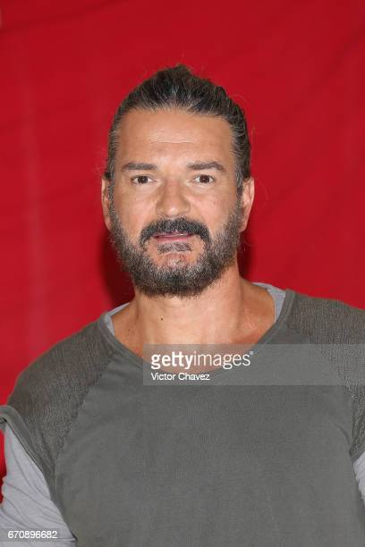 Singer Ricardo Arjona attends a press conference to promote his new album 'Circo Soledad' at Estacion Indianillas on April 20 2017 in Mexico City...